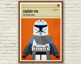 Star Wars print, Captain Rex Poster, Kids Room Decor, Boys Wall Art, Superhero Wall Art, Childrens Bedroom Art, Star Wars Poster, Kids Room