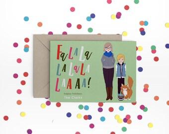 Family Holiday Christmas Portrait / Custom Original Christmas / Custom Holiday Gift / Printed Holiday Cards / Digital Holiday File