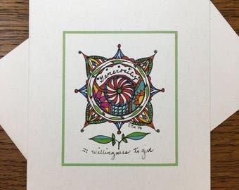 The Virtue Series: Generosity Greeting Card