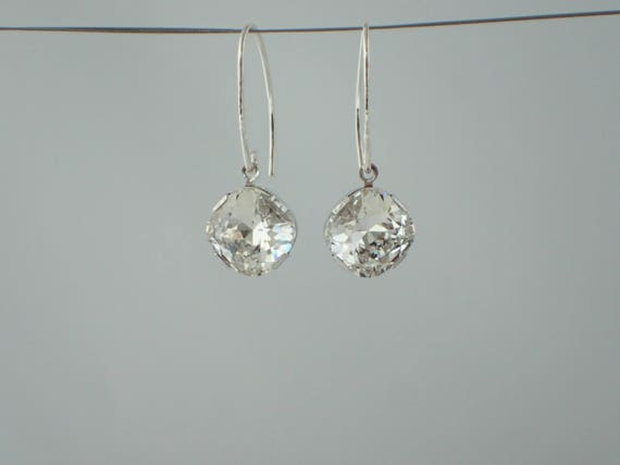 Simply Radiant Swarovski Crystal Earrings, Sterling Silver