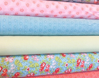 SALE!! 1 Yard Bundle Linen and Lawn by Sue Daley Designs for Penny Rose Fabrics-6 Fabrics