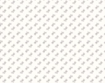 1 Yard Bee Backgrounds by Lori Holt for Riley Blake Designs- 6389 Bicycle Gray