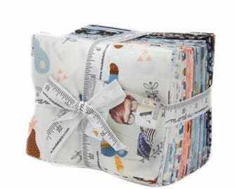 Fat Quarter Bundle Wild and Free by Abi Hall for Moda- 24 Fabrics Includes the Panel