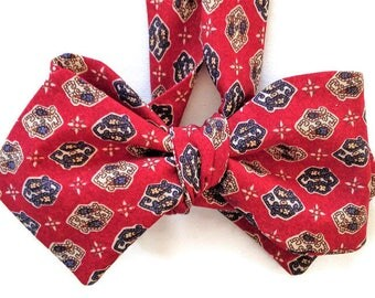 Silk Bow Tie  for Men - Monticello  - One-of-a-Kind, Handcrafted - Self-tie - Free Shipping