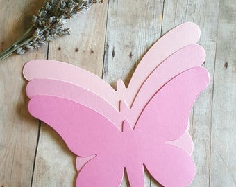 Large Butterfly(A) Diecuts, Blush Pink Butterfly die cut, Pink, Butterfly Cutouts, Wedding Decor, Paper butterfly, Large butterfly die cuts