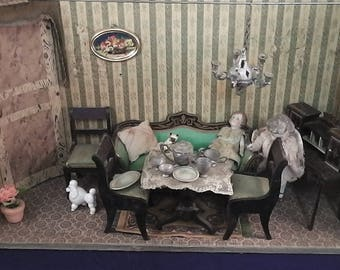 Antique miniature doll house Victorian ca. 1880/1900