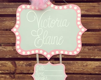 Hospital Door Hanger, Baby Door Hanger, Baby Boy Door Hanger, Baby Girl Door Hanger