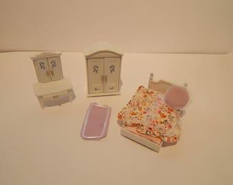vintage bedroom set. Vintage Calico Critters Lavender Girls Bedroom Set CC2271 Lot of 8 pieces bedroom set  Etsy