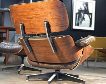 authentic 70u0027s herman miller rosewood eames lounge chair and ottoman full restoration available