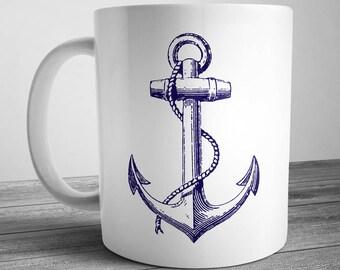 Vintage Anchor Coffee Mug
