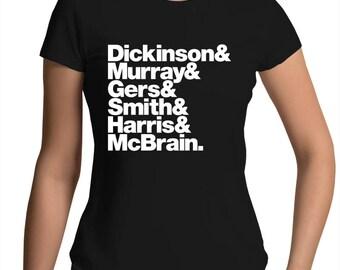 Iron Maiden Band Line-Up Womens Crew T-Shirt