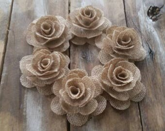 Burlap Flower, Wedding Decoration, Country Wedding, Rustic Flower, Cake Decorations