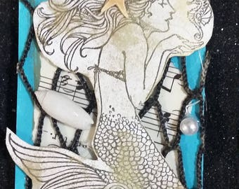 Mermaid Artist Trading Card Kit set for 10 cards