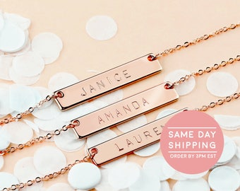 Ships Next Day - Maid of honor gift Custom Coordinates necklaces mother of the bride gift Custom Jewelry Wedding gift bride gift - 4N