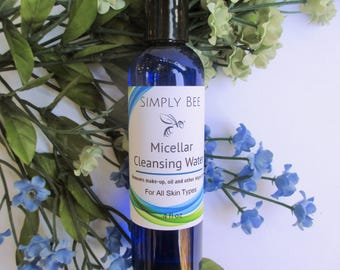 Micellar Cleansing Water, Make-up Remover, Face Cleanser, Face Wash, All Skin Types