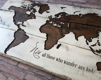 World map art etsy world map wall art travel map map art gifts for travelers map sciox Gallery