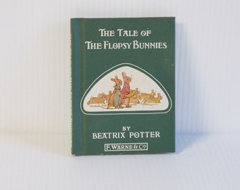 Vintage The Tale of Flopsy Bunnies Beatrix Potter Hardcover Book