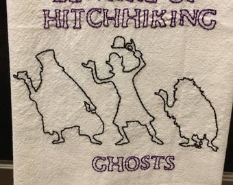 Haunted mansion inspired towel