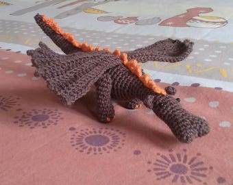 Original Amigurumi Dragon crochet - birthday gift