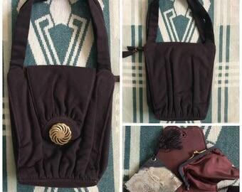 1930s - 1940s brown purse !