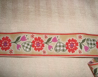 Large heart and flowers Ribbon
