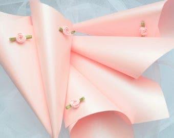 10 luxury Confetti Cones,  Wedding petals, Confetti, Petal holders, Pink Confetti Cones