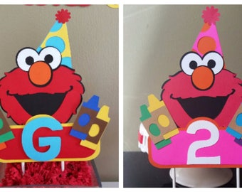 Elmo Cake Topper, Girl Elmo Cake Topper, Elmo Cake Smash, Girl Elmo Cake Smash