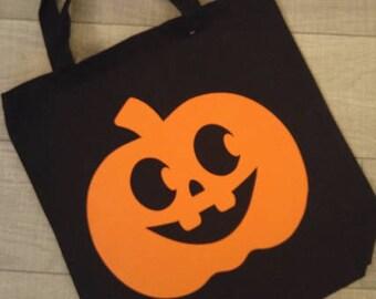Pumpkin Bag, Pumpkin Halloween Tote, Pumpkin halloween bag, halloween tote, custom halloween bag, Halloween, Pumpkin