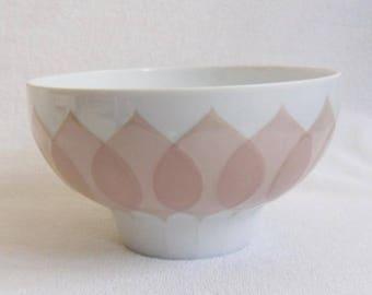 Rosenthal Lotus Salmon-bowl-studio line-Bjorn Wiinblad-Bowl