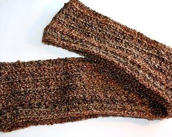 Brown Infinity Scarf, crochet