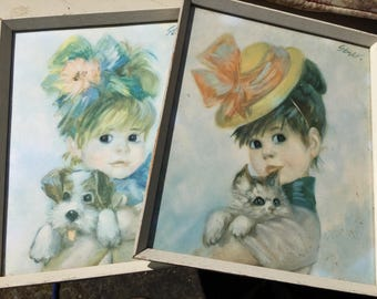 Two prints by the artist strev