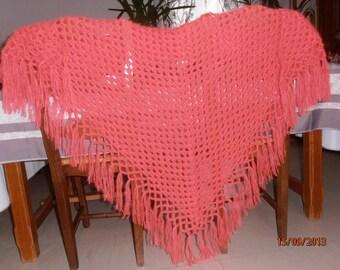 Neon mohair shawl.
