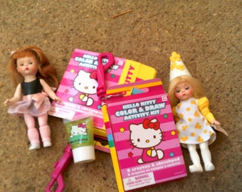 Madam Alexander Dolls and Hello Kitty Color and Draw Kit