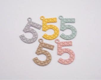 20pcs 18x24mm(5 colors)Number five ,Number 5 Pendant Charm Finding,for Bracelet,DIY Accessory Jewelry Making