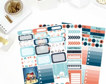 Cozy Fire Weekly Kit Stickers! Perfect for your Erin Condren Life Planner, calendar, Paper Plum, Filofax!