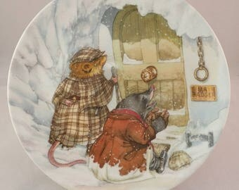 """Wedgwood Wind in the Willows Collectors Plate – """"The Wild Wood"""" by Eric Kincaid"""