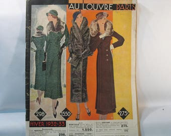"""Catalog winter 1932-33 """"at the LOUVRE"""" store in PARIS"""