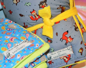 Fox Baby Blanket, Nursery Woodland Blanket, Baby Boy Fox Blanket, Baby Girl Fox Blanket, Fox Duvet, Fox Quilt, Fleece Fox Blanket, Baby Gift