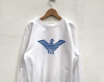 20% OFF Vintage Giorgio Armani Sweatshirt/Armani Sweater/Giorgio Armani Italy/Armani Pullover
