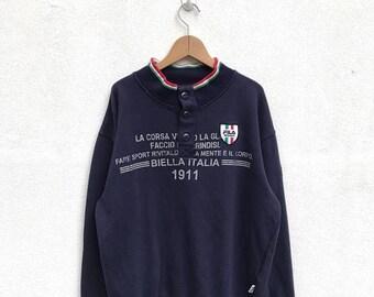 20% OFF Vintage Fila Sweatshirt/Fila Sweater/Casual Clothing/Fila Sport Sweater/Fila Italia/Fila Tennis