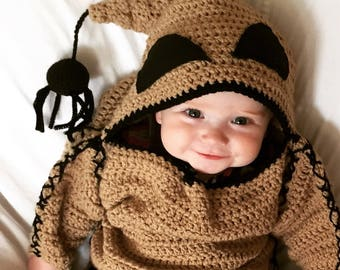 PATTERN ONLY, Oogie Boogie Monster Costume Pattern, Infant Halloween Costume Pattern, Crochet Pattern