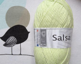 WOOL SALSA lime - white horse