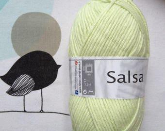WOOL SALSA lime - white horse