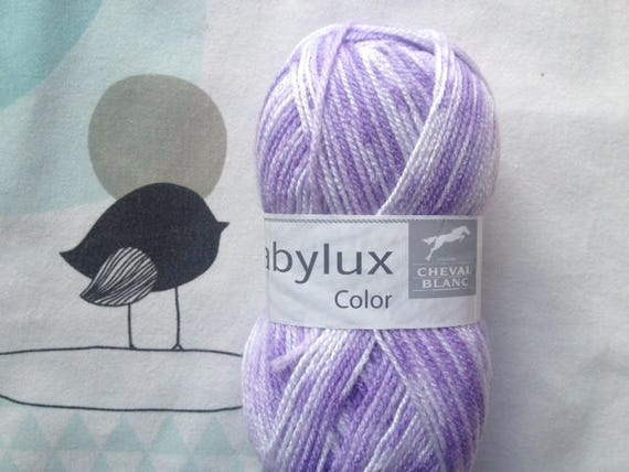 WOOL BABYLUX COLOR hyacinth - white horse