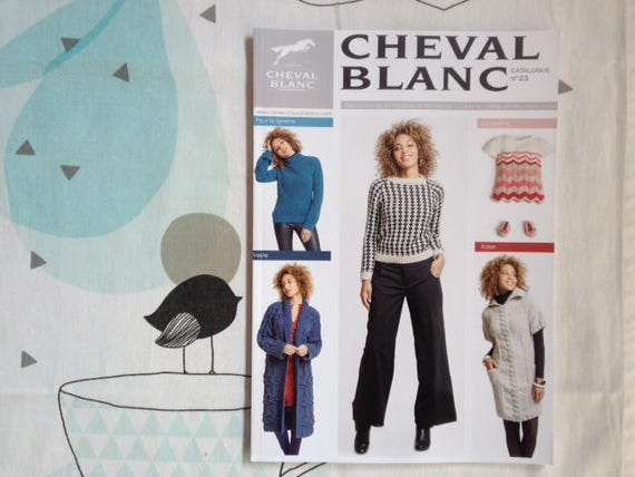 Catalog knit 23 white horse