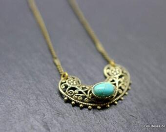 art deco turquoise pendant pendant