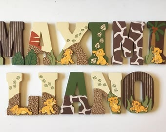 Baby Lion King Letters - Baby shower - nursery -Home Decor - Party Decorations - Wood letters - Custom Letters