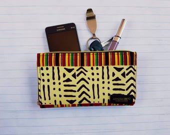 African Print Wallet/ pouch/ wristlet