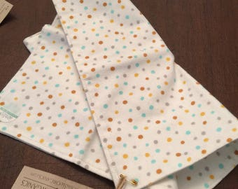 Teal/Purple Confetti Dots Burp Cloths - Oversized Absorbent Flannel Burp Cloth - Organic Cotton Baby Double Thick Flannel