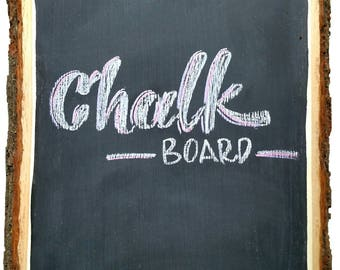 Chalkboard wood slice, rectangle wood slice, large wood slice, chalkboard surface wood slice, wedding wood slice, chalkboard sign.